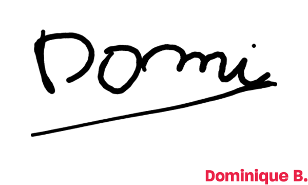 Signature de Dominique B