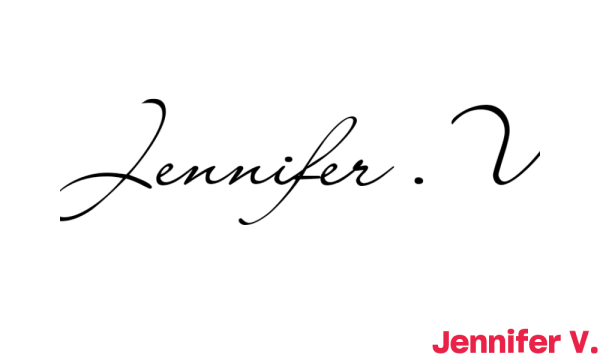 Signature de Jennifer V