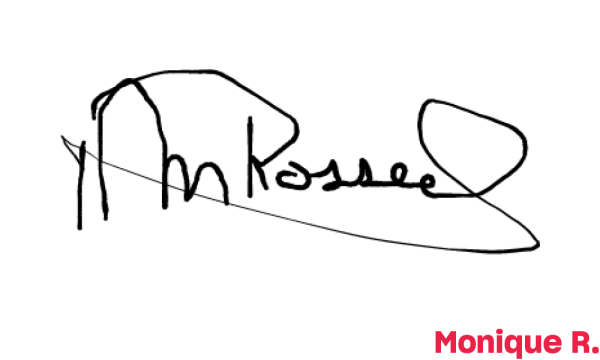 Signature de Monique R