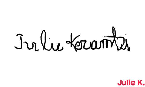 Signature de Julie K